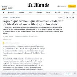 La politique économique d'Emmanuel Macron profite d'abord aux actifs et aux plus aisés