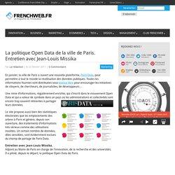 La politique Open Data de la ville de Paris. Entretien avec Jean-Louis Missika