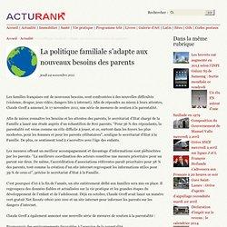 La politique familiale s'adapte aux nouveaux besoins des parents