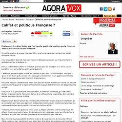 Califat et politique Française