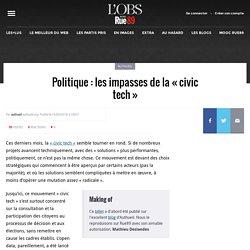 Politique: les impasses de la «civic tech»