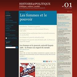 Histoire@Politique n°01 : Le dossier : Introduction : Femmes au pouvoir