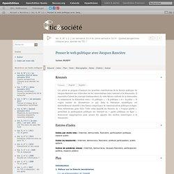Penser le web politique avec Jacques Rancière