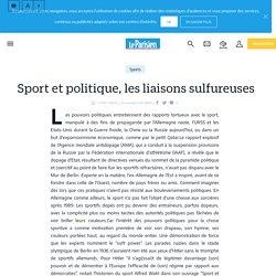 Sport et politique, les liaisons sulfureuses - le Parisien