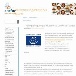 Politique linguistique éducative du Conseil de l'Europe