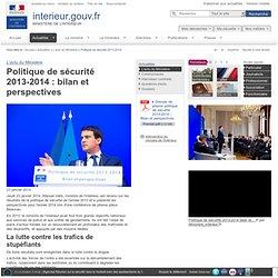 Politique de sécurité 2013-2014 / L'actu du Ministère / Actualités