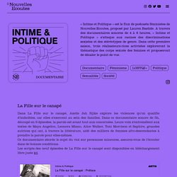 Intime & Politique – Nouvelles Écoutes