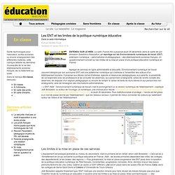 Les ENT et les limites de la politique numérique éducative