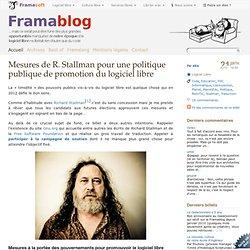 Mesures de R. Stallman pour une politique publique de promotion du logiciel libre