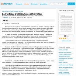 La Politique De Recrutement Carrefour - Rapports de Stage - Linou02