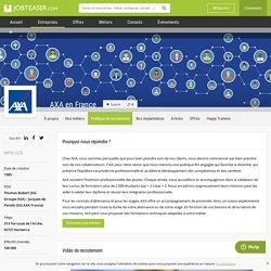 La politique de recrutement de AXA en France