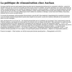 Document 2 - La politique de rémunération chez Auchan