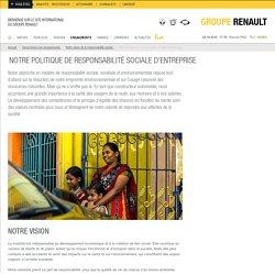 Politique de RSE au sein du groupe Renault