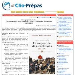 Culture et politique en France sous la Troisième République (1870-1940) - Clio Prépas