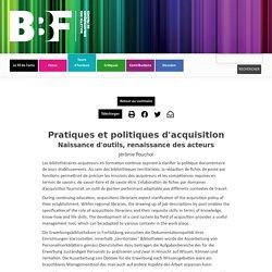 BBF - Pratiques et politiques d'acquisition