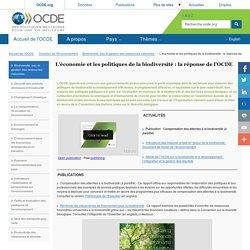 OCDE 05/11/14 Biodiversité, eau et gestion des ressources naturelles - L'économie et les politiques de la biodiversité : la réponse de l'OCDE