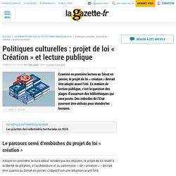 Politiques culturelles : projet de loi « Création » et lecture publique