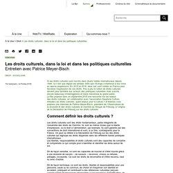 Les droits culturels, dans la loi et dans les politiques culturelles - Balises - Bpi