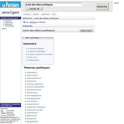 Liste des idées politiques : définition de Liste des idées politiques et synonymes de Liste des idées politiques