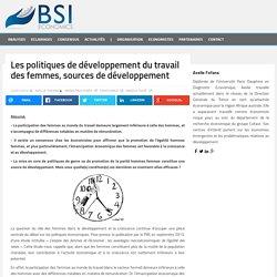 Les politiques de développement du travail des femmes, sources de développement