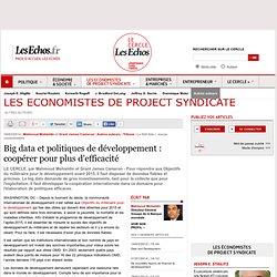 Big data et politiques de développement : coopérer pour plus d'efficacité