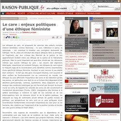 """""""Care-sollicitude"""": éthique féministe"""