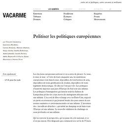 Politiser les politiques européennes