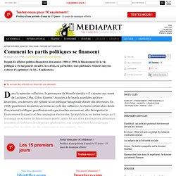 Comment les partis politiques se financent
