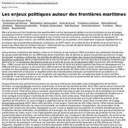Les enjeux politiques autour des frontières maritimes