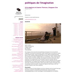 POLITIQUES DE L'IMAGINATION