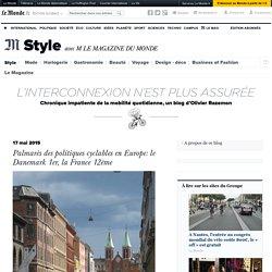 Palmarès des politiques cyclables en Europe: le Danemark 1er, la France 12ème
