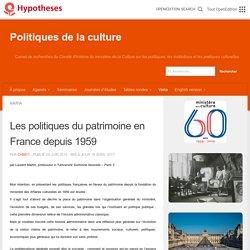Les politiques du patrimoine en France depuis 1959