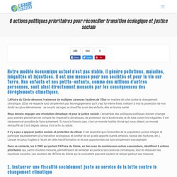 6 actions politiques prioritaires pour réconcilier transition écologique et justice sociale - L'Affaire du Siècle