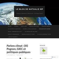 Parlons climat : (III) Pognon, GIEC et politiques publiques