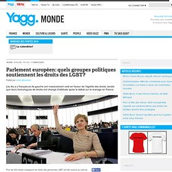 Parlement européen: quels groupes politiques soutiennent les droits des LGBT?