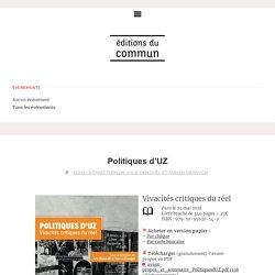 Politiques d'UZ – Éditions du commun