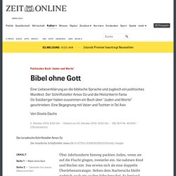"""""""Juden und Worte"""": Das neue Buch des Schriftstellers Amos Oz und seiner Tochter"""