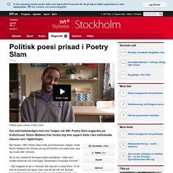 Politisk poesi prisad i Poetry Slam