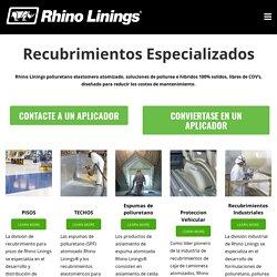 Poliuretano elastómero atomizado - Rhino Linings Contención Industrial