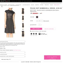 Polka Dot Bombshell Dress — Shoptiques