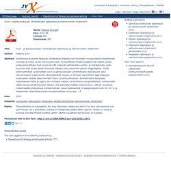 Vuori - ja polkujuoksujen ultramatkojen lajianalyysi ja valmennuksen ohjelmointi