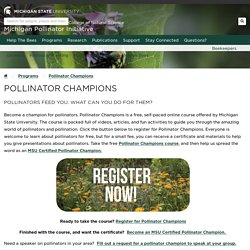 Pollinator Champions - Michigan Pollinator Initiative