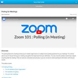 Polling for Meetings