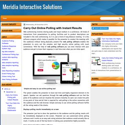 Carry Out Online Polling with Instant Results