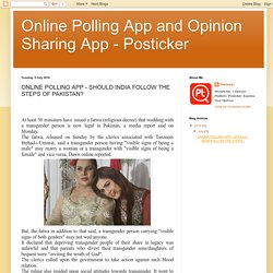 Online Polling App and Opinion Sharing App - Posticker: ONLINE POLLING APP - SHOULD INDIA FOLLOW THE STEPS OF PAKISTAN?
