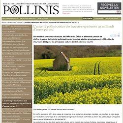 Enjeux économiques de l'activité pollinisatrice des insectes représente 153 milliards d'euros par an!