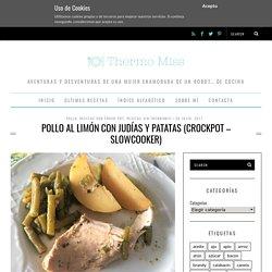 Pollo al limón con judías y patatas