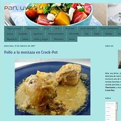 Pan, uvas y queso : Pollo a la mostaza en Crock-Pot
