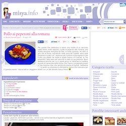 » Pollo ai peperoni alla romana - Ricetta Pollo ai peperoni alla romana