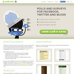 QuizSnack | Online survey software, web poll & questionnaire tool